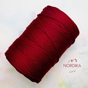 Шнур Nordika Cord поліефірний 3 мм бордо 01-005