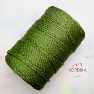 Шнур Nordika Cord поліефірний 3 мм соковита оливка 01-006