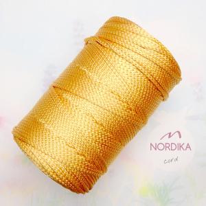 Шнур Nordika Cord поліефірний 3 мм золотистий металік 01-014