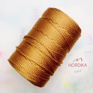 Шнур Nordika Cord поліефірний 3 мм бронзовий металік 01-015