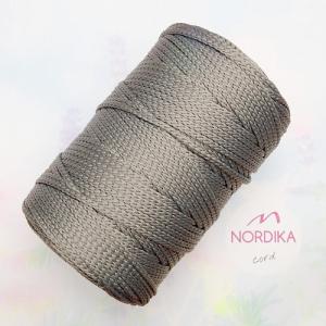 Шнур Nordika Cord поліефірний 3 мм сталевий металік 01-020