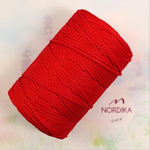 Шнур Nordika Cord поліефірний 3 мм червоний 01-026