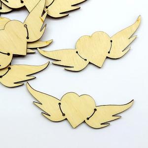 Бірочка сердечко з крильцями 7 см