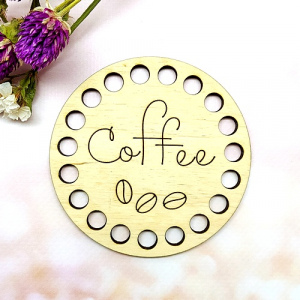 Заготовка з дерева 9 см Coffee
