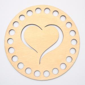 Заготовка з дерева кругла 10 см сердце