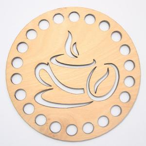 Заготовка з дерева кругла 10 см кава