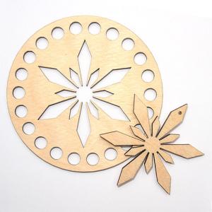 Заготовка з дерева кругла 10 см крижана зірка