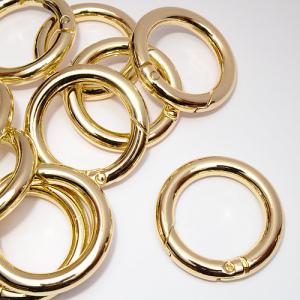 Кільце-карабін 25 мм золото К5665
