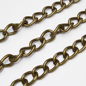 Ланцюжок для сумочки 10х13 мм бронза К6093