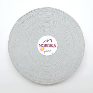 Трикотажна пряжа Nordika Yarn 7-9 мм РОЛІК срібло 79-007