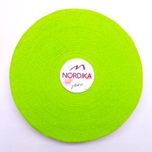 Трикотажна пряжа Nordika Yarn 7-9 мм РОЛІК лайм 79-013