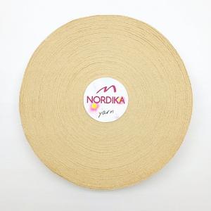 Трикотажна пряжа Nordika Yarn 7-9 мм РОЛІК беж 79-023