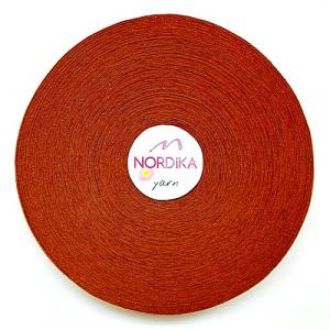 Трикотажна пряжа Nordika Yarn 7-9 мм РОЛІК табак 79-033