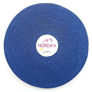 Трикотажна пряжа Nordika Yarn 7-9 мм РОЛІК темно-блакитний 79-034