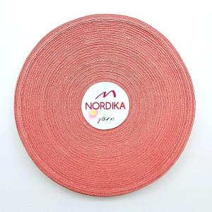 Трикотажна пряжа Nordika Yarn 7-9 мм РОЛІК димчата троянда 79-038