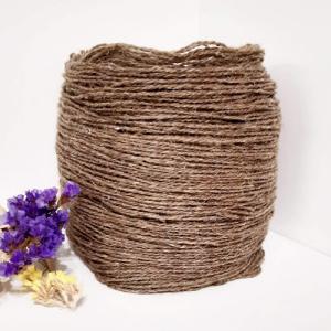 Пряжа з вовни Nordika Wool коричневий льон 02-008