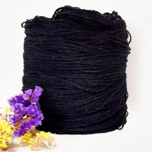 Пряжа з вовни Nordika Wool чорна 02-011