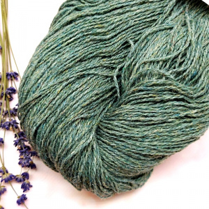 Пряжа з вовни Nordika Wool нефритовий сірий 02-007