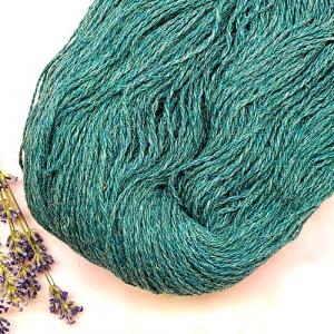Пряжа з вовни Nordika Wool бірюзова 02-018