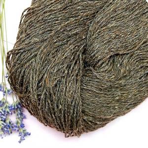 Пряжа з вовни Nordika Wool коричневий сивий 02-021