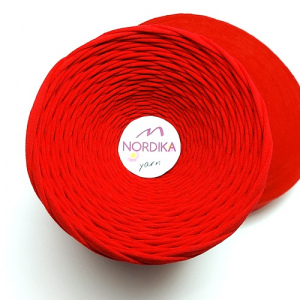 Трикотажна пряжа Nordika Yarn 7-9 мм червона 79-001