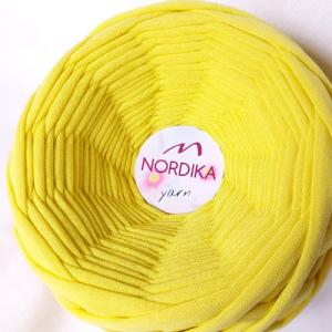 Трикотажна пряжа Nordika Yarn 7-9 мм лимон 79-002