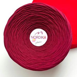 Трикотажна пряжа Nordika Yarn 7-9 мм бургунді 79-009