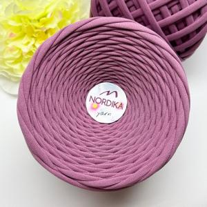 Трикотажна пряжа Nordika Yarn 7-9 мм пастельно-трояндова 79-014