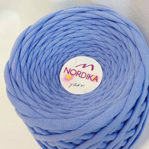 Трикотажна пряжа Nordika Yarn 7-9 мм джинс 79-019