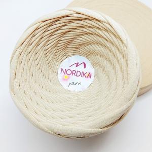 Трикотажна пряжа Nordika Yarn 7-9 мм беж 79-023