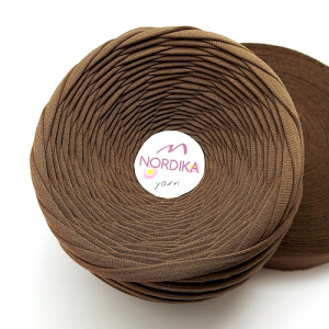Трикотажна пряжа Nordika Yarn 7-9 мм кава 79-024