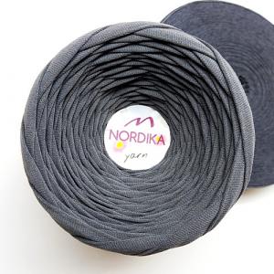 Трикотажна пряжа Nordika Yarn 7-9 мм сіра 79-027