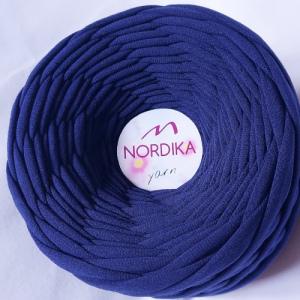 Трикотажна пряжа Nordika Yarn 7-9 мм темно-синя 79-028