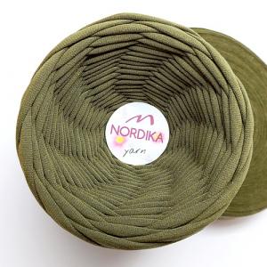 Трикотажна пряжа Nordika Yarn 7-9 мм хакі 79-030