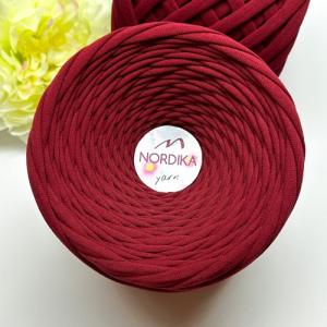 Трикотажна пряжа Nordika Yarn 7-9 мм бордо 79-031