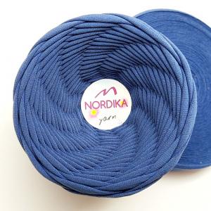Трикотажна пряжа Nordika Yarn 7-9 мм темно-блакитна 79-034