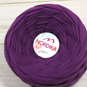 Трикотажна пряжа Nordika Yarn 7-9 мм фіолет 79-037