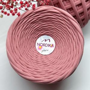 Трикотажна пряжа Nordika Yarn 7-9 мм димчата троянда 79-038