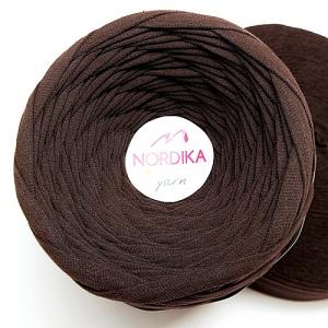 Трикотажна пряжа Nordika Yarn 7-9 мм чорний шоколад 79-041