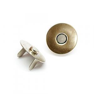 Застібка магнітна 18 мм срібляста 11-001