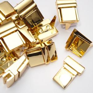 Застібка портфельна прямокутна золото К2300